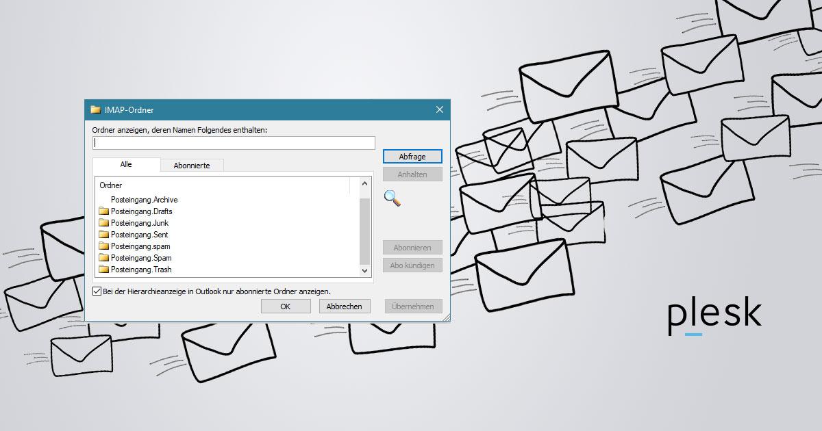 Plesk Onyx - IMAP Ordner automatisch erstellen