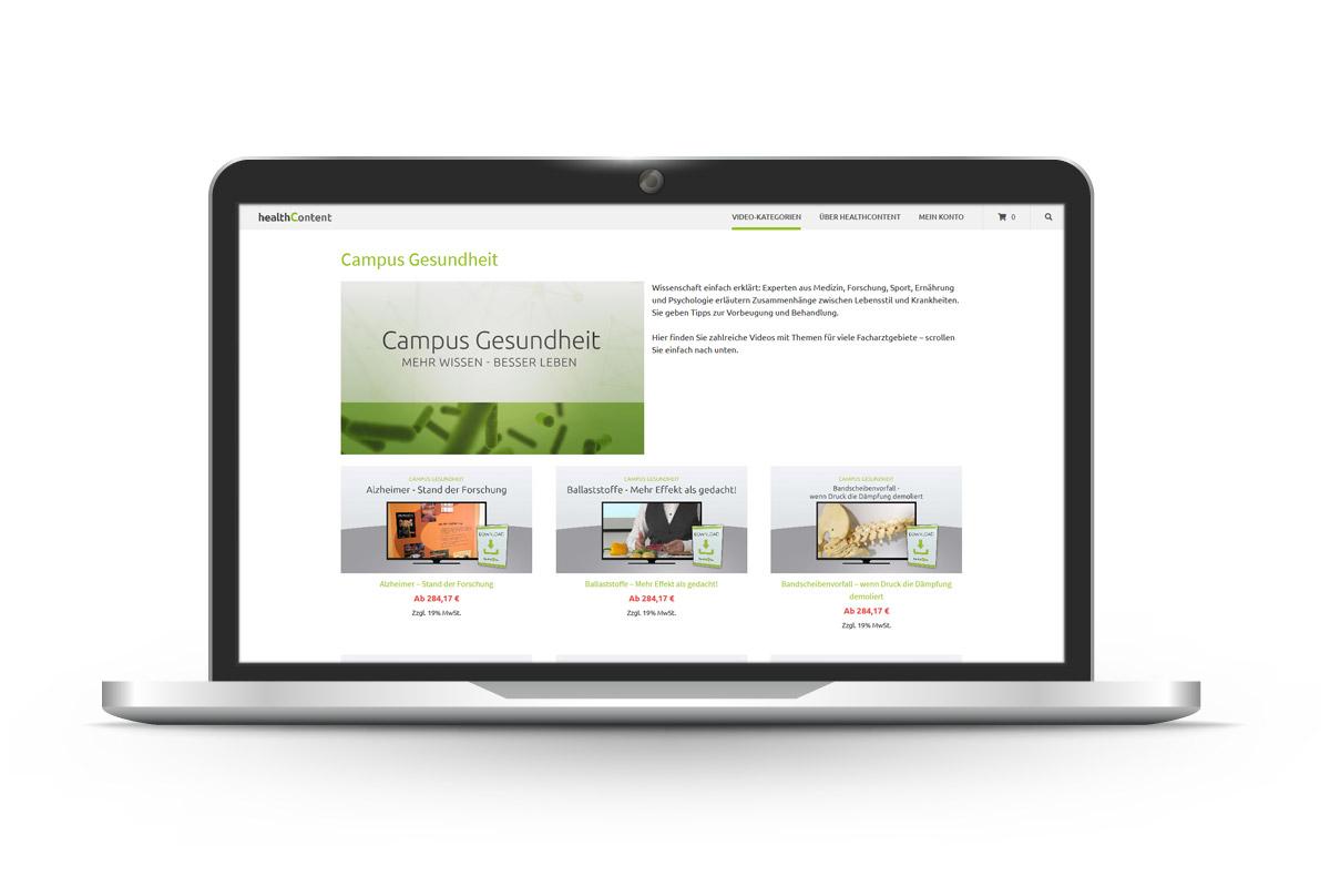 pga IT - Referenz HealthContent Shop